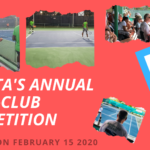 Annual Inter-Club Competition – Starts January 25 2020