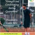 Upcoming Webinar – Strength & Conditioning During Quarantine – on May 2nd @ 2pm