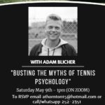 "Upcoming Webinar – ""Busting The Myths of Tennis Psychology"" – on May 9th @ 1pm"
