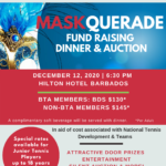 2020 Maskquerade Fundraising Dinner and Auction – Saturday December 12, 2020 – 6.30pm – Hilton Hotel